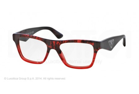Prada TRIANGLE 0PR 20QV RO01O1 RED HAVANA GRAD RED