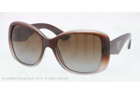 Prada TRIANGLE 0PR 32PS PDM6E1 BROWN GRADIENT GRAY POLARIZED