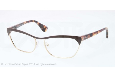 Prada PORTRAIT 0PR 57QV QE61O1 BROWN/PALE GOLD