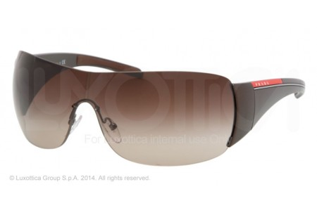 Prada Linea Rossa PS 02LS 0PS 02LS 7Y26S1 BROWN DEMI SHINY