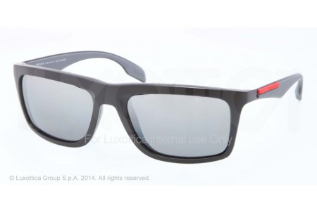 Prada Linea Rossa SLICE 0PS 02PS 1BO9R1 BLACK DEMI SHINY POLARIZED
