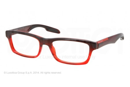 Prada Linea Rossa PS 07CV (55) 0PS 07CV JAV1O1 STRIPED RED
