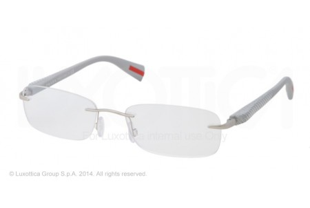 Prada Linea Rossa NETEX COLLECTION 0PS 53DV 1AP1O1 SILVER DEMI SHINY