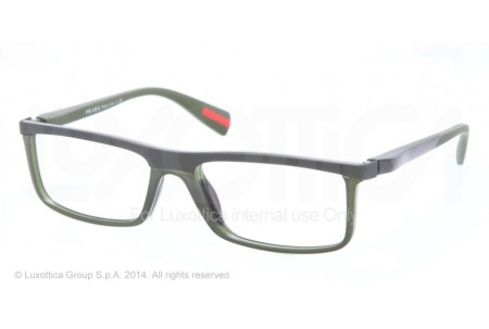 Prada Linea Rossa NETEX 0PS 53EV ROS1O1 MILITARY GREEN RUBBER