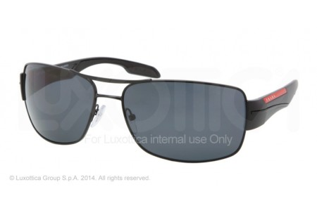 Prada Linea Rossa  0PS 53NS 1BO5Z1 DEMI-SHINY BLACK POLARIZED
