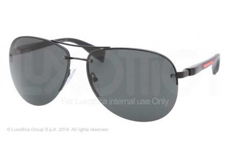 Prada Linea Rossa PS 56MS (65) 0PS 56MS 1BO1A1 BLACK DEMI SHINY