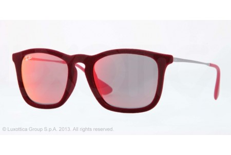 Ray-Ban CHRIS 0RB4187 60786Q FLOCK BORDEAUX