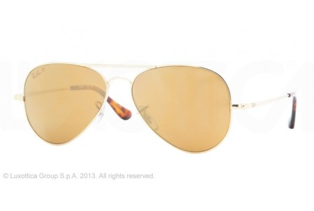 Ray-Ban AVIATOR ULTRA TM 0RB8029K 040KN3 GOLD POLARIZED