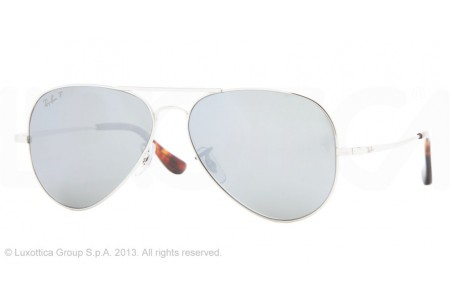 Ray-Ban AVIATOR ULTRA TM 0RB8029K 064KN4 SILVER POLARIZED