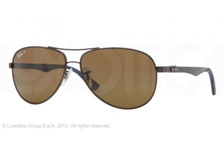 Ray-Ban CARBON FIBRE 0RB8313 014/N6 BROWN POLARIZED
