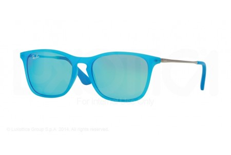 Ray-Ban Junior  0RJ9061S 701155 AZURE FLUO TRASPARENT RUBBER