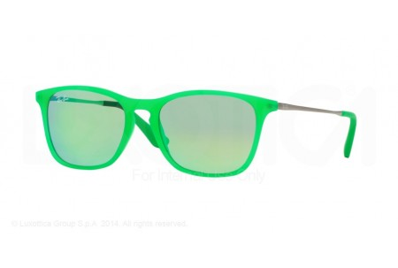 Ray-Ban Junior  0RJ9061S 70073R GREEN FLUO TRASP RUBBER