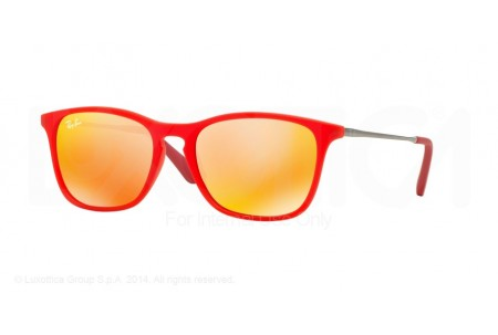 Ray-Ban Junior  0RJ9061S 70106Q RED FLUO TRASPARENT RUBBER