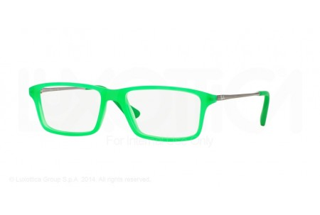 Ray-Ban Junior 0RY1541 3619 GREEN FLUO TRASPARENT RUBBER