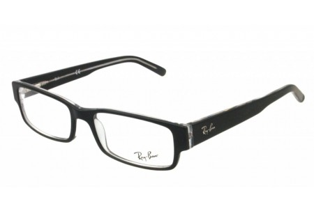 Ray-Ban 0RX5069 2034 TOP BLACK ON TRANSPARENT