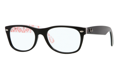 Ray-Ban 0RX5184 5014 TOP BLACK ON TEXTURE WHITE