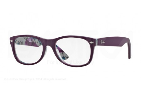 Ray-Ban 0RX5184 5408 TOP MAT VIOLET ON TEX CAMUFLAG