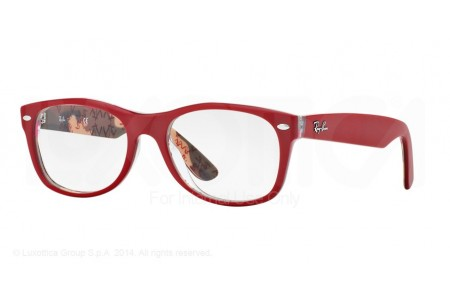 Ray-Ban 0RX5184 5406 TOP MATTE RED ON TEXT CAMUFLAG