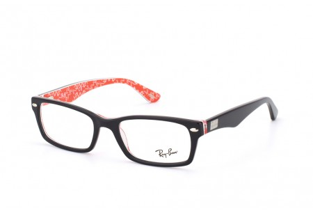 Ray-Ban 0RX5206 2479 TOP BLACK ON TEXTURE RED