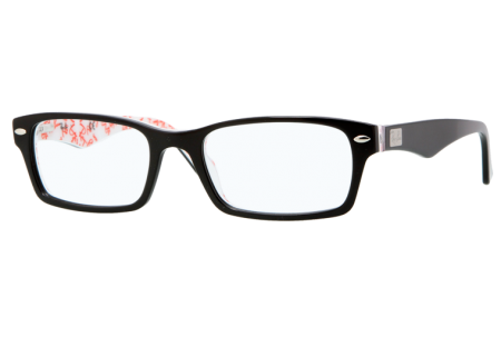 Ray-Ban 0RX5206 5014 TOP BLACK ON TEXTURE WHITE
