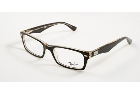 Ray-Ban 0RX5206 5373 TOP BROWN ON TRASPARENT YELLOW