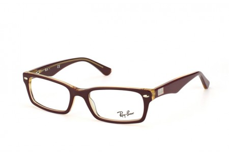 Ray-Ban 0RX5206 5372 TOP RED ON TRASPARENT BEIGE