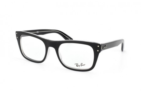Ray-Ban 0RX5227 2034 TOP BLACK ON TRANSPARENT