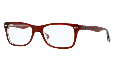Ray-Ban 0RX5228 5112 DARK RED ON TRASPARENT