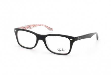 Ray-Ban 0RX5228 5014 TOP BLACK ON TEXTURE WHITE