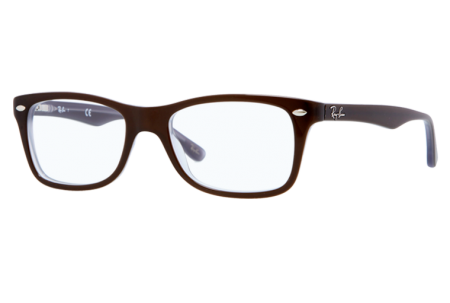 Ray-Ban 0RX5228 5076 TOP BROWN ON OPAL AZURE