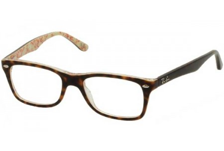 Ray-Ban 0RX5228 5057 TOP DARK HAVANA ON BEIGE TEXT