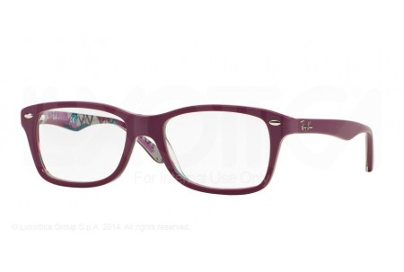 Ray-Ban 0RX5228 5408 TOP MAT VIOLET ON TEX CAMUFLAG