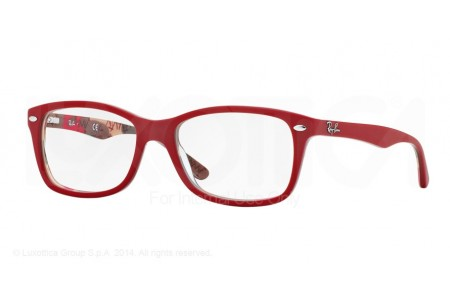 Ray-Ban 0RX5228 5406 TOP MATTE RED ON TEXT CAMUFLAG