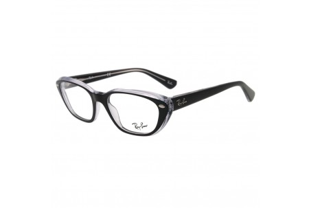 Ray-Ban 0RX5242 2034 TOP BLACK ON TRANSPARENT