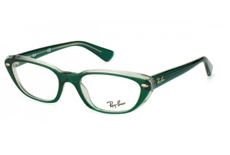 Ray-Ban 0RX5242 5162 TOP DARK GREEN ON TRANSP