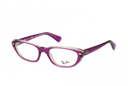 Ray-Ban 0RX5242 5254 TOP VIOLET ON TRASPARENT