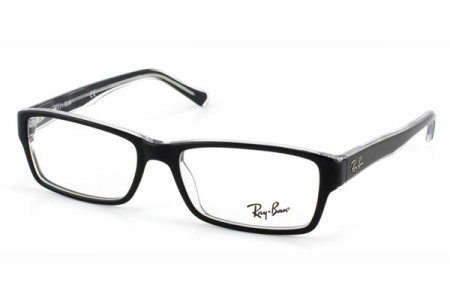 Ray-Ban 0RX5245 2034 TOP BLACK ON TRANSPARENT
