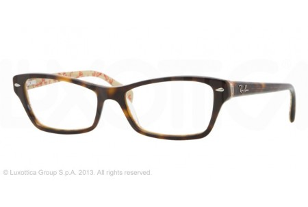 Ray-Ban 0RX5256 5057 TOP DARK HAVANA ON BEIGE TEXT