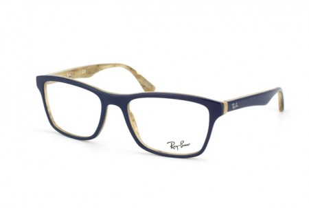 Ray-Ban 0RX5279 5131 TOP BLUE ON VARIEGATED BEIGE
