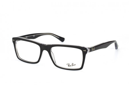 Ray-Ban 0RX5287 2034 TOP BLACK ON TRANSPARENT