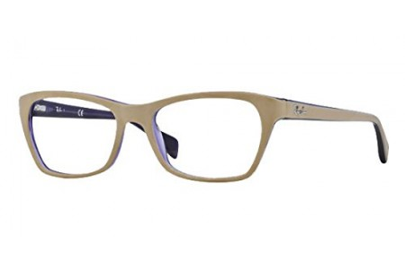Ray-Ban 0RX5298 5387 TOP MATTE BEIGE ON TRASP VIOLE