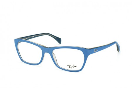 Ray-Ban 0RX5298 5391 TOP MATTE BLUE ON TRASP BEIGE