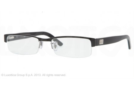 Ray-Ban 0RX6182 2502 BLACK ON GUNMETAL