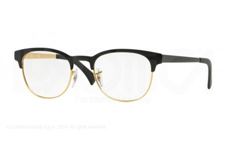 Ray-Ban 0RX6317 2833 TOP BLACK ON MATTE GOLD