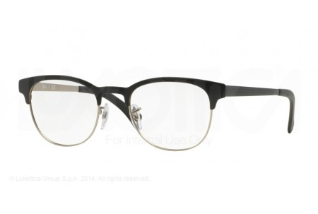 Ray-Ban 0RX6317 2832 TOP BLACK ON MATTE SILVER