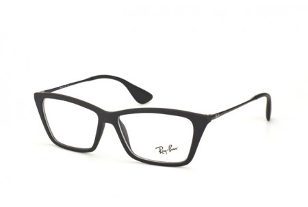 Ray-Ban 0RX7022 5364 RUBBER BLACK