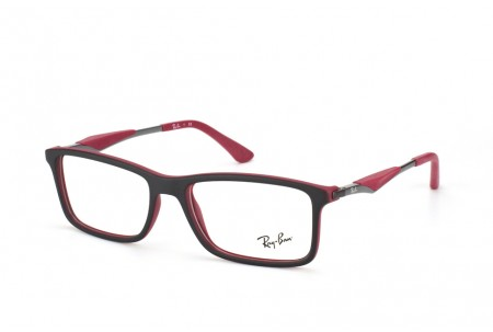 Ray-Ban 0RX7023 5259 TOP BLACK ON MATTE BORDEAUX