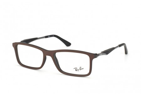 Ray-Ban 0RX7023 5258 TOP BROWN ON MATTE BLACK