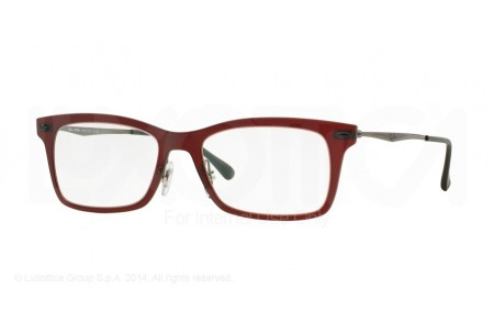Ray-Ban 0RX7039 5456 MATTE DARK RED