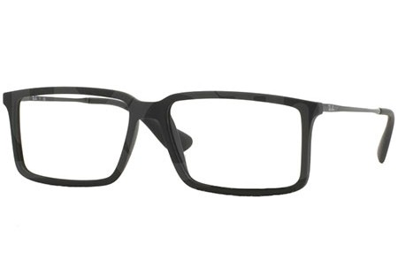 Ray-Ban 0RX7043 5364 RUBBER BLACK
